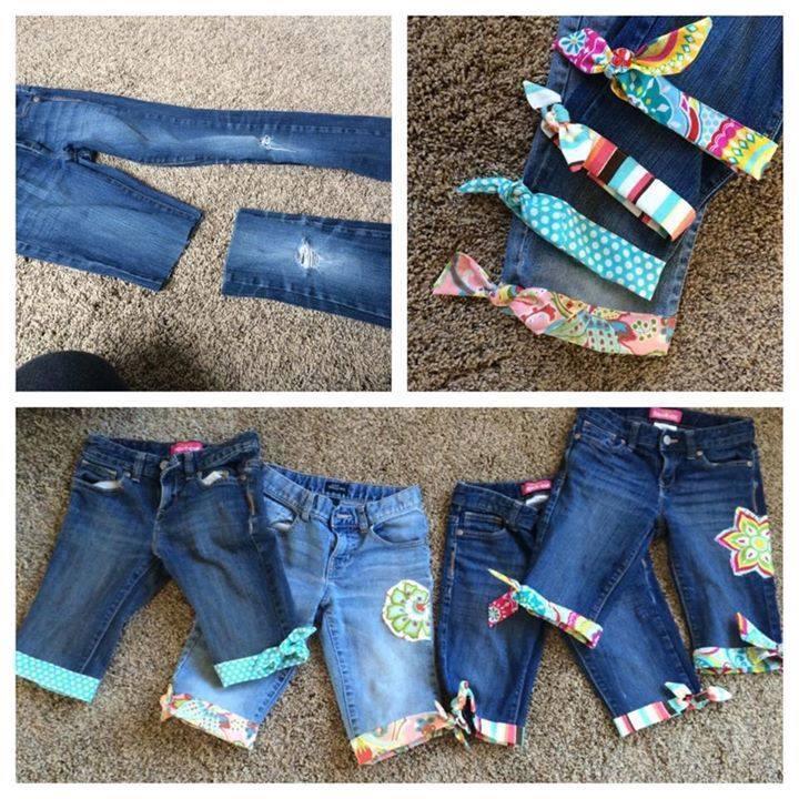 DIY Stradhose Damen aus alten Jeans