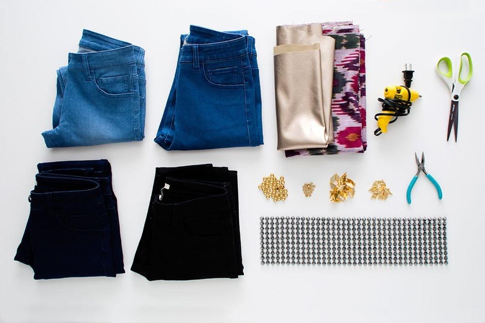 Die nötigen Materialien und Ausrüstung für Ihre neu gestalteten Sommerhosen