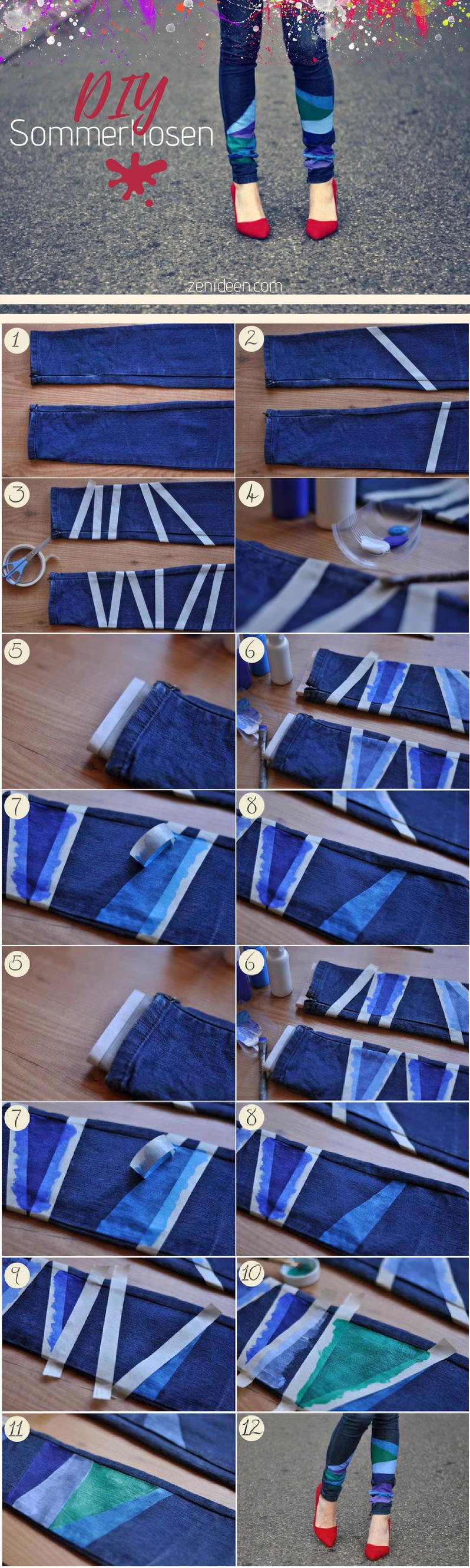 Werfen Sie auch einen Blick auf die anderen Anleitungen und ergreifen Sie die Möglichkeit Ihre alten Sommerhosen zu verschönern!