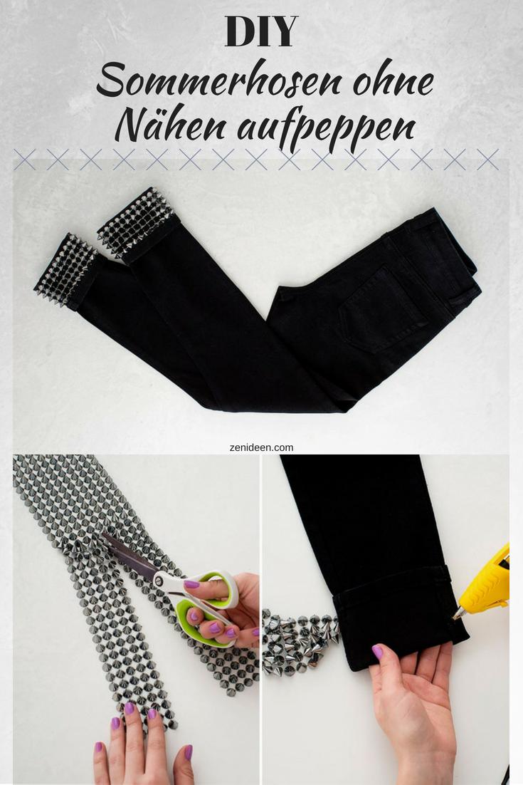 DIY Damen Sommerhose aus Baumwolle mit Spickes