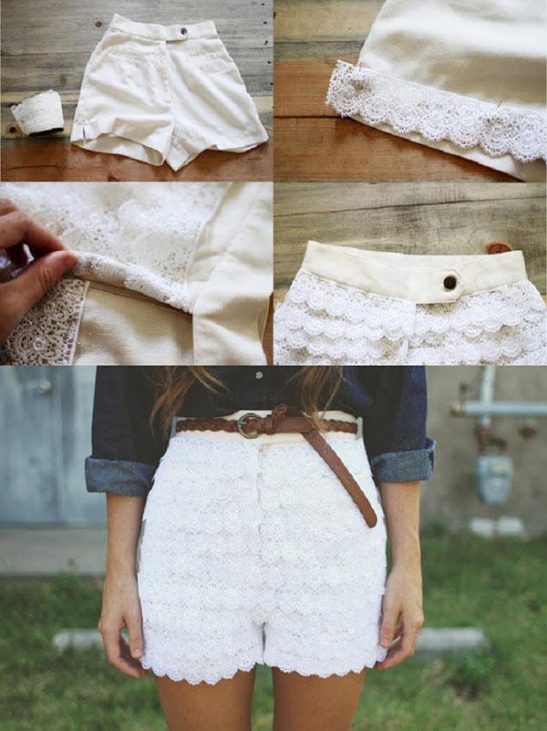 Verschönern Sie Ihre kurze weiße Hose mit unserer Anleitung