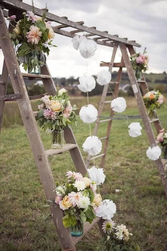 Upcycling Ideen für Hochzeitsbogen