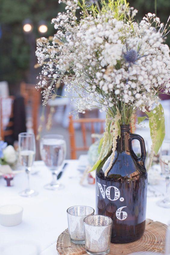 Recycling Basteln für Hochzeit Dekoration