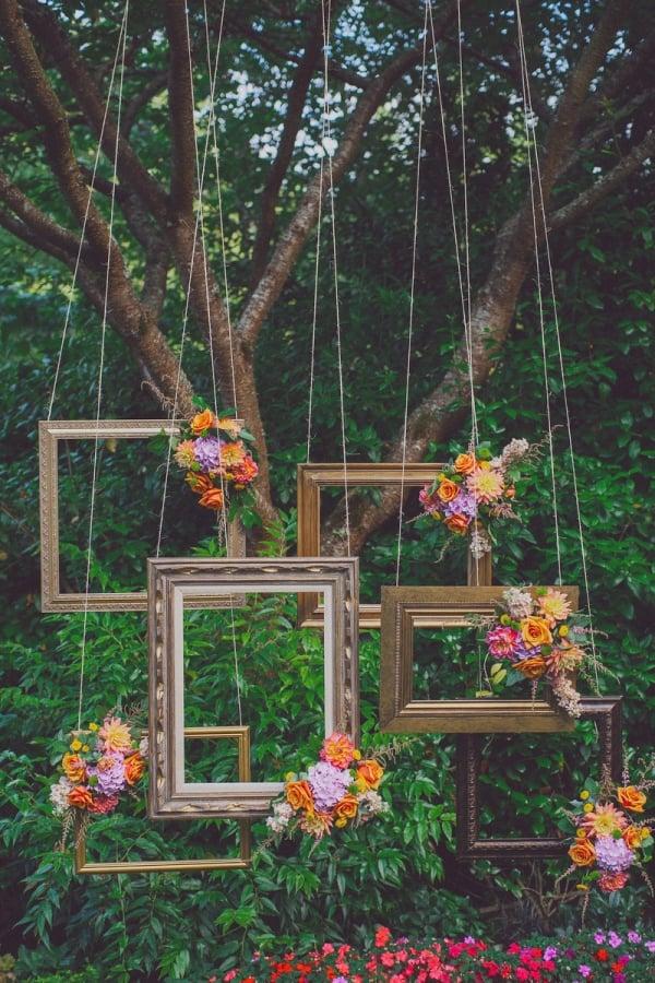 Hochzeitsdeko selber machen - Upcycling Ideen mit Bilderrahmen