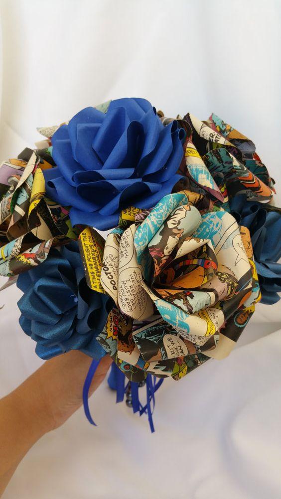 Upcycling Ideen für Brautstrauß aus Papier