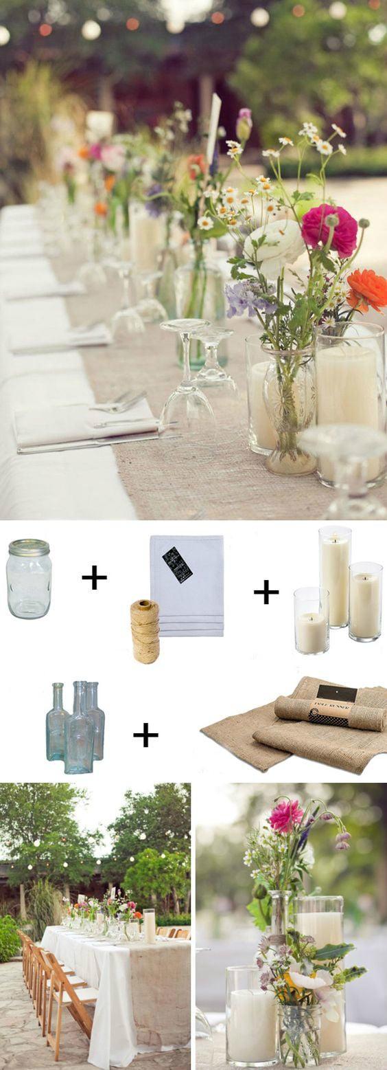 DIY Anleitung für Upcycling Hochzeitsdeko