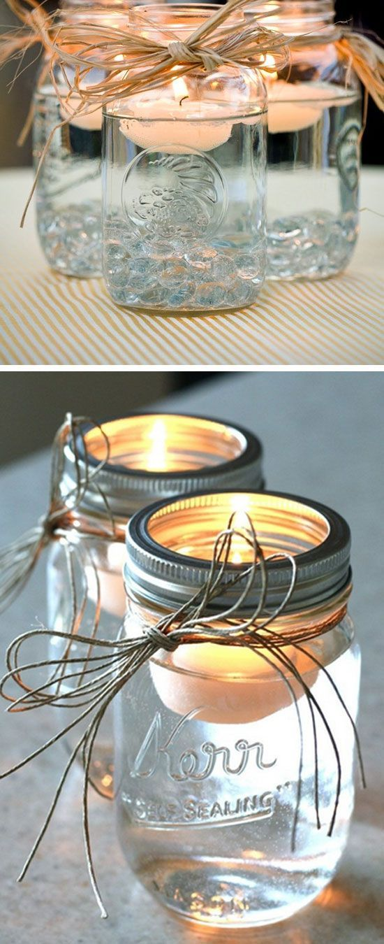 Kerzenhalter aus Mason Jar selber machen - DIY Upcycling Ideen