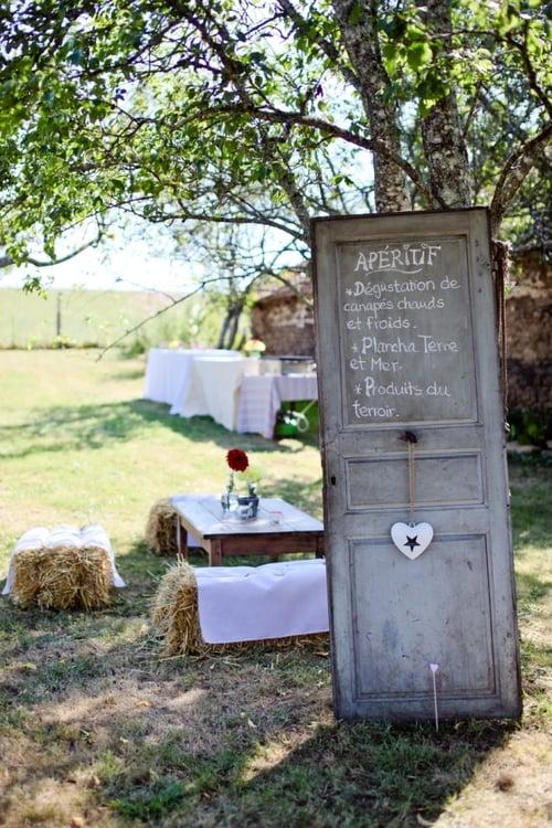 DIY Upcycling Ideen mit Türen Hochzeitsrezeption