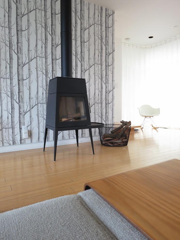 Wohnzimmer Tapeten im skandinavischen Stil