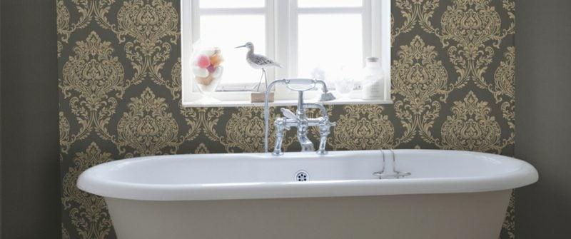 Bad ohne Fliesen tolle Tapeten