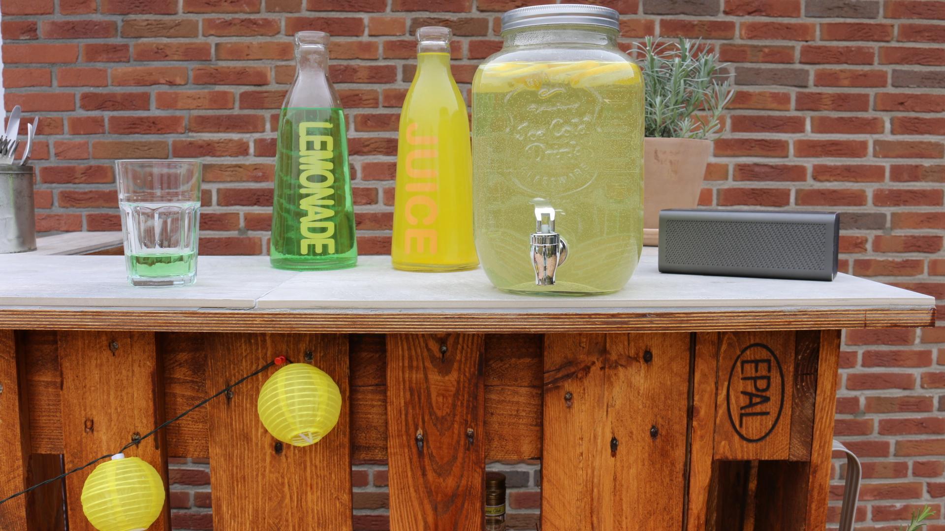 Garten Bar aus Paletten für den Sommer selber bauen