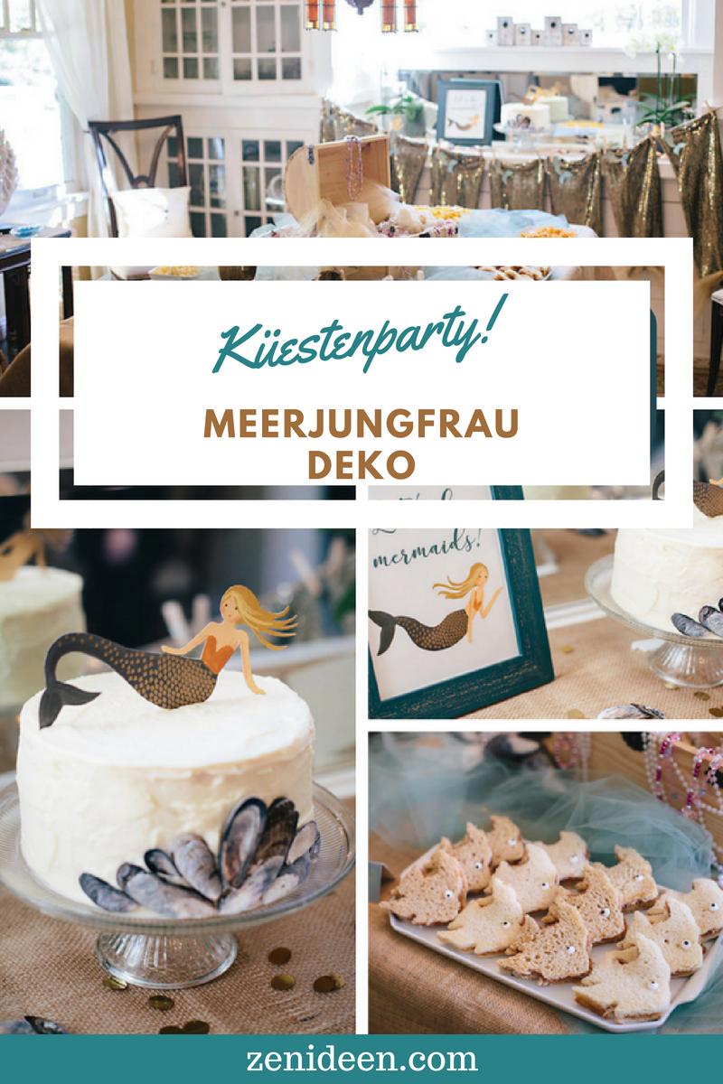 Meerjungfrau Partydeko Küstenparty