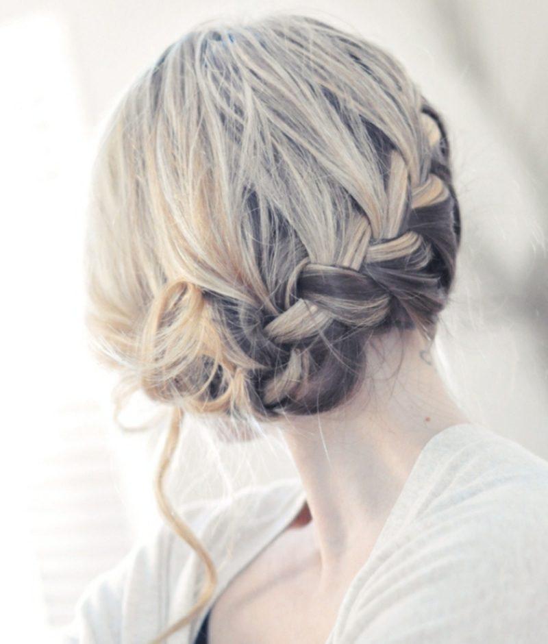 Flechtfrisuren Anleitung hochgesteckte Haare