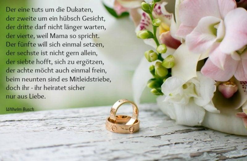 Hochzeitswünsche für Karte Gedicht Wilhelm Busch