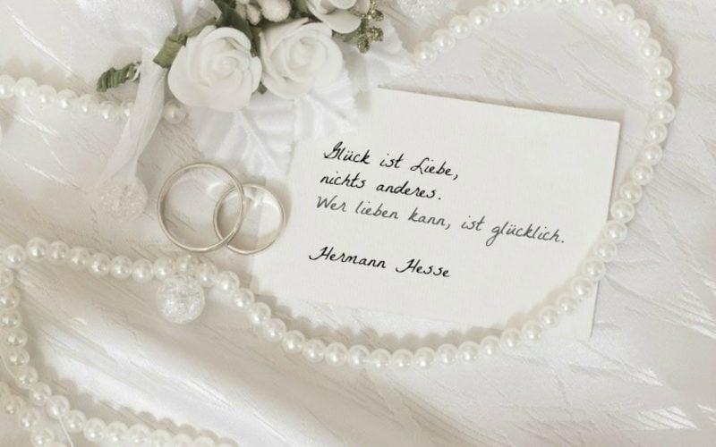 Hochzeitswünsche für KarteZitate kurz tiefsinnig Hermann Hesse