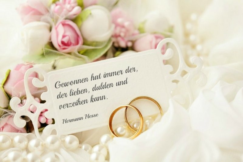 Hochzeitswünsche für Karte Zitat Hermann Hesse