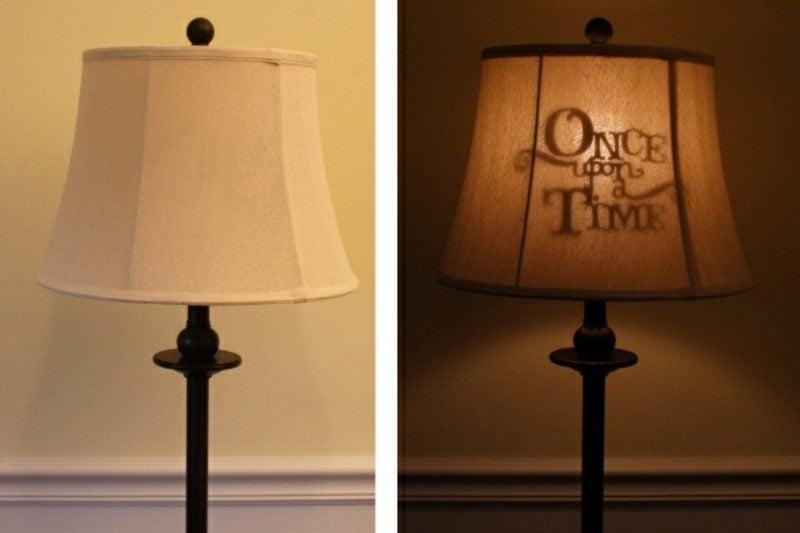 Lampenschirm selber machen Silhouette es war einmal