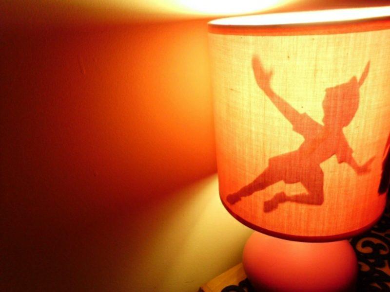 Lampenschirm selber machen Silhouette Piter Pan