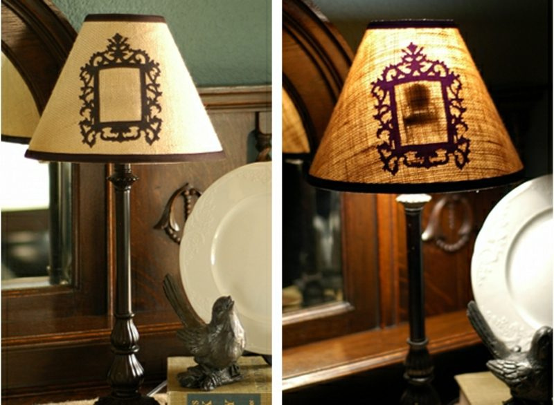 Lampenschirm selber machen originelle Ideen