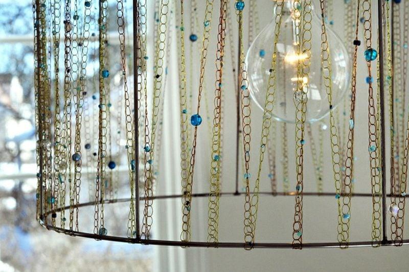 Lampenschirm selber machen und dekorieren Ketten
