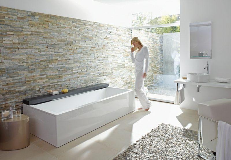 Bad ohne Fliesen Naturstein