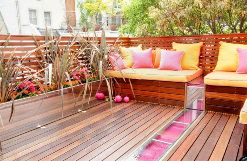 Balkongestaltung mit Pflanzen Nordbalkon