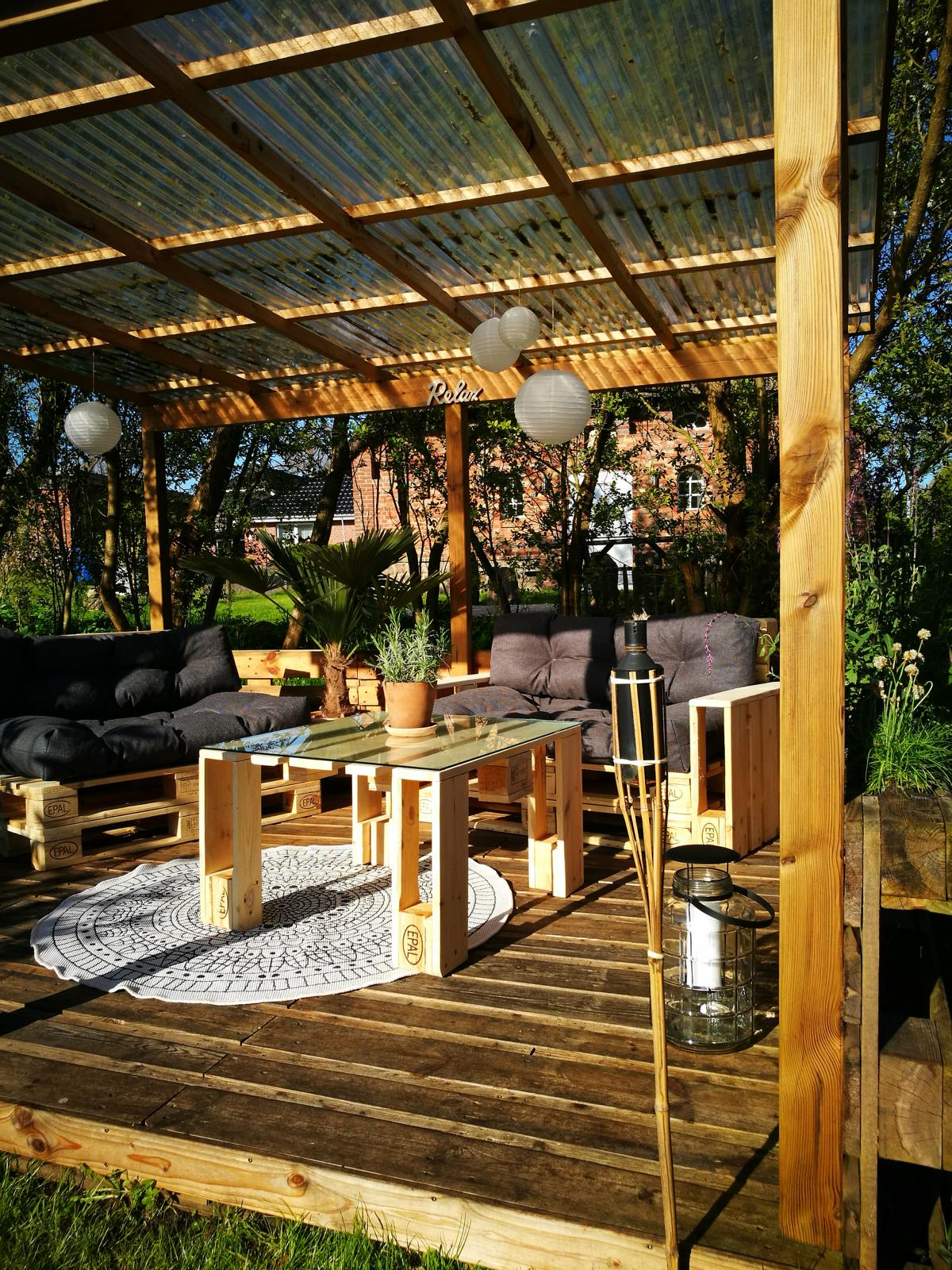 Selbstgebaute Gartenmöbel - Palettenmöbel Ideen