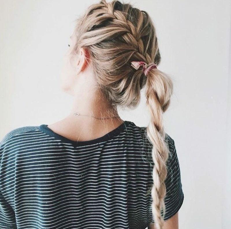 Flechtfrisuren Anleitung Ideen lange Haare