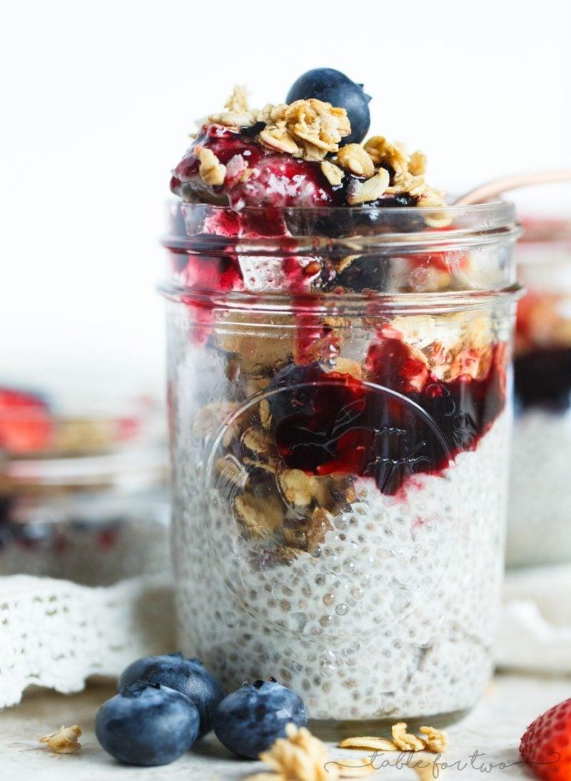 schnelle Rezepte ohne Kohlenhydrate Pudding mit Chia Samen