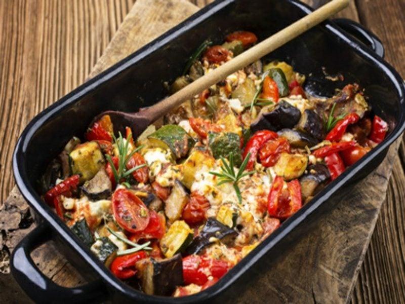 mediterraner Gemüseauflauf schnelle Rezepte ohne Kohlenhydrate