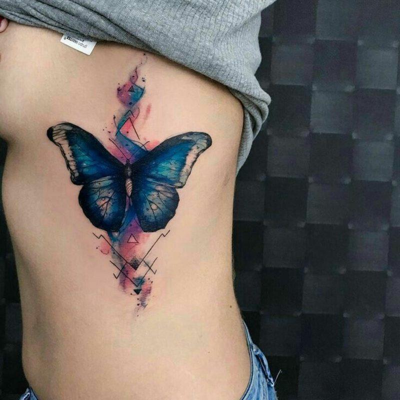 Aquarell Tattoo Schmetterling moderne Motive