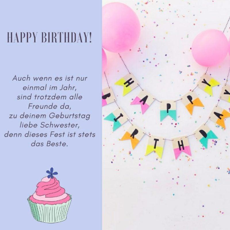 Schwester Sprüche Ideen zum Geburtstag