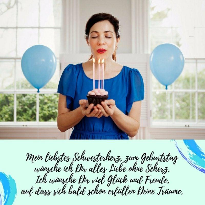 Schwester Sprüche Geburtstag tolle Ideen
