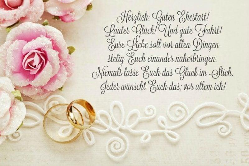 Hochzeitswünsche für Karte liebevoll ehrlich