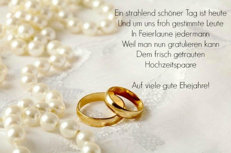 Hochzeitswünsche für Karte poetisch