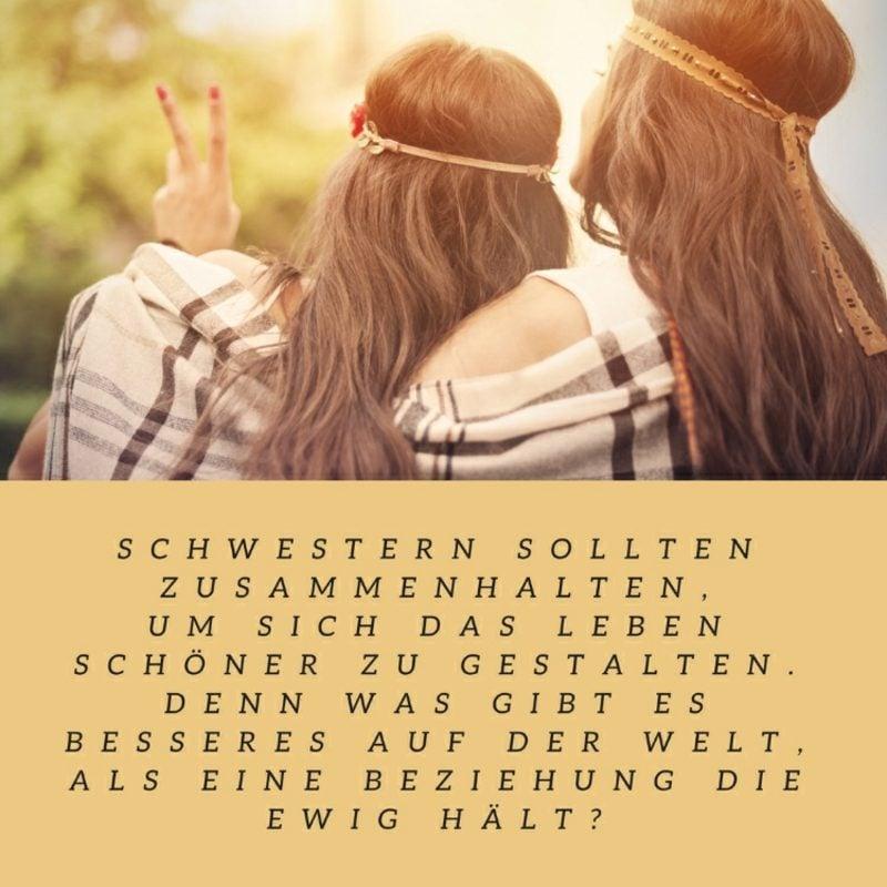 Inspirierende Schwester Sprüche - die Schwesterliebe in ...