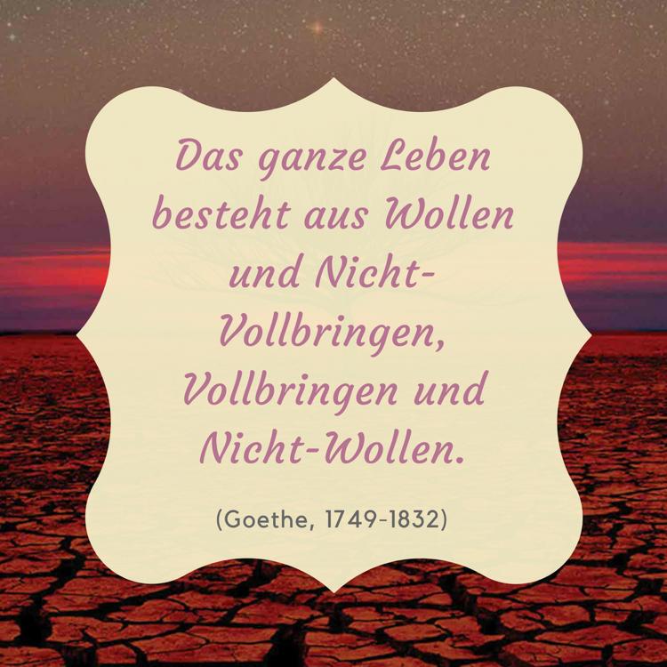 Sprüche Lebensweisheiten Zitat Goethe inspirierend