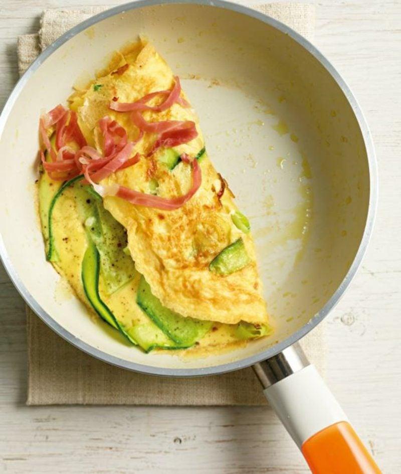 schnelle Rezepte ohne Kohlenhydrate Omelett Zucchini chinken