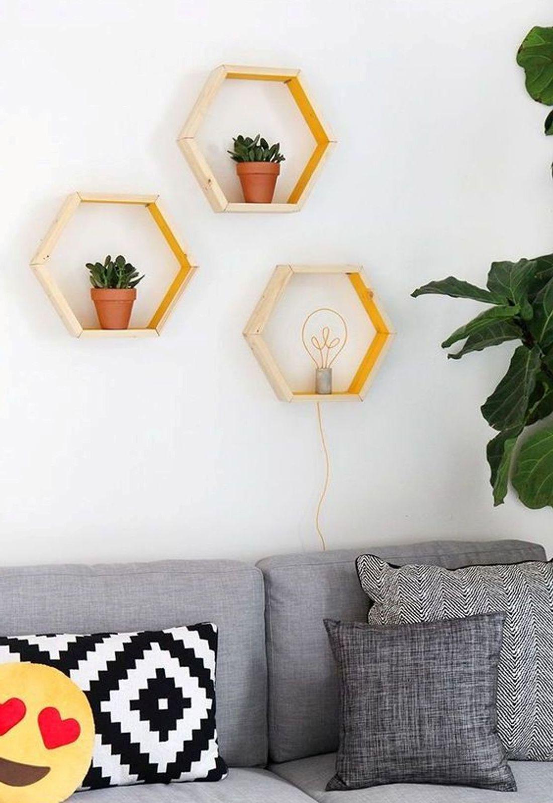 blumentopfhalter selber bauen, diy ideen mit sechseck: ausgefallenes schuhregal selber bauen - diy, Design ideen