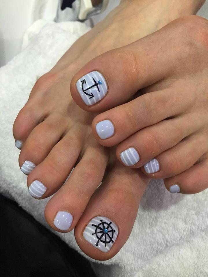 Tolle Designs fürs Fußnägel Lackieren