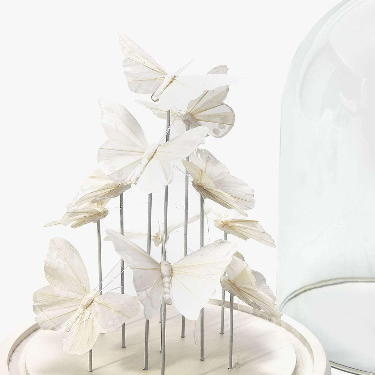 DIY Glasglocke mit Holzteller