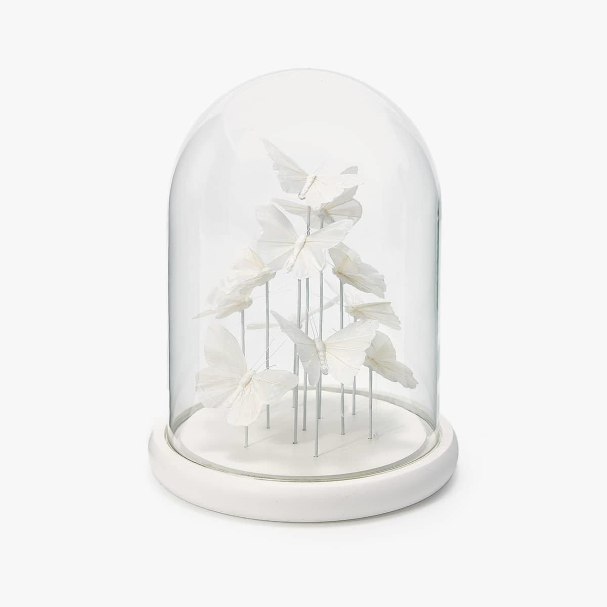 Hochzeitsdeko: mit Glasglocke dekorieren