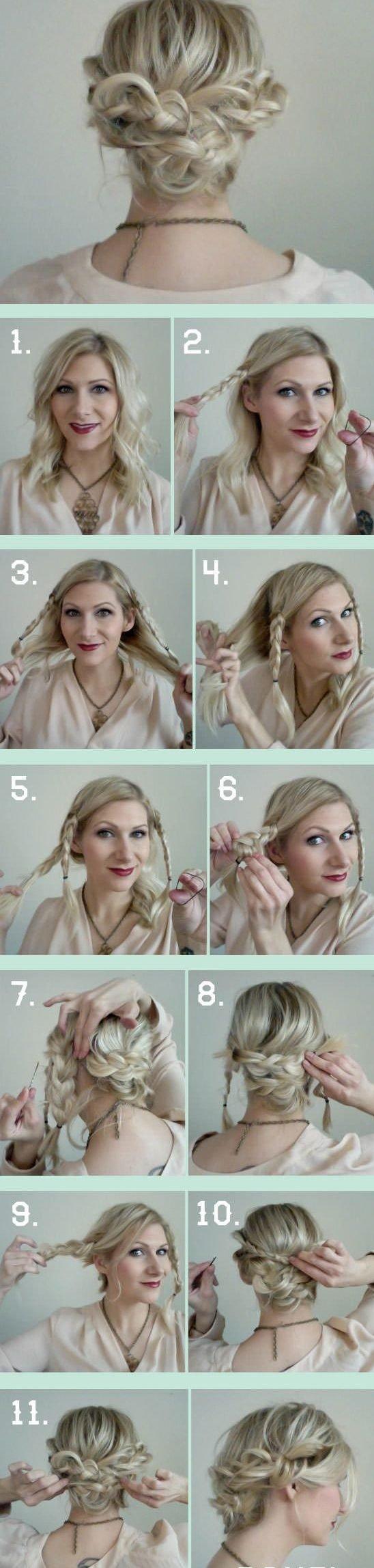 Anlaitunge für Haare flechten