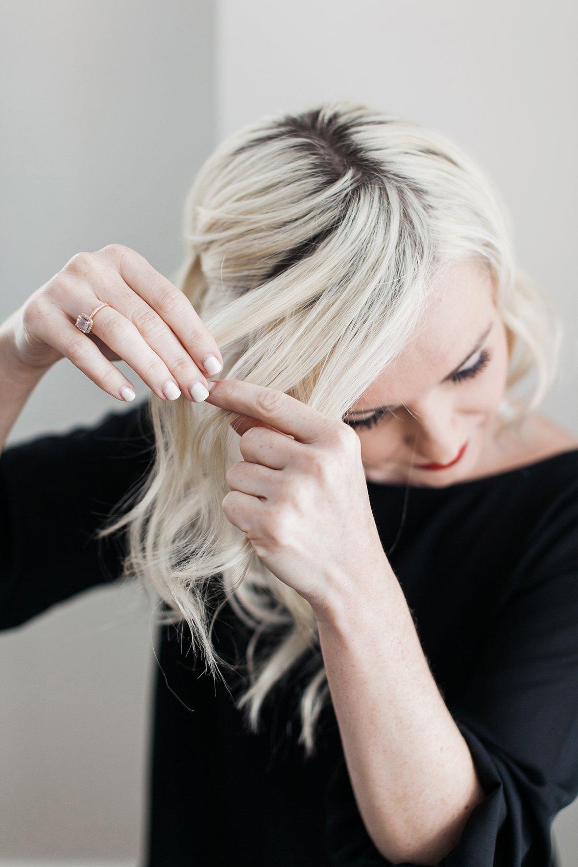 Einfache Flechtfrisuren für schulterlange Haare: Schritt für Schritt einen seitlichen Zopf flechten