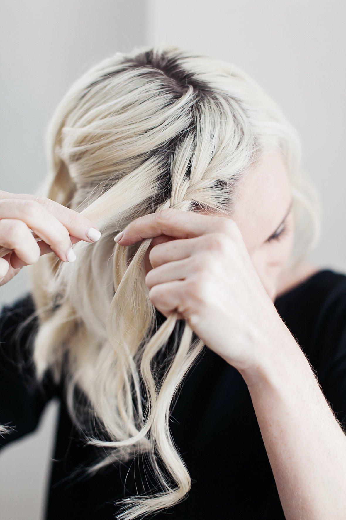 Einfache Flechtfrisuren für schulterlange Haare