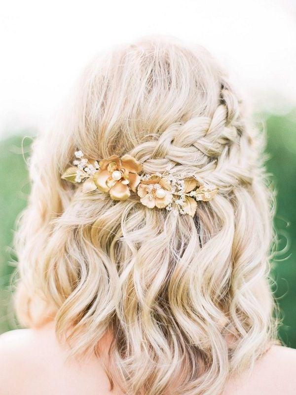 Hochsteckfrisuren Halboffen für Braut
