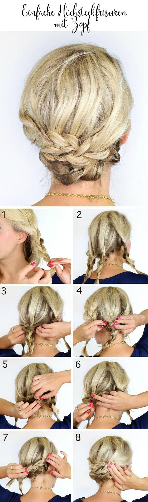 Schöne Frisuren mit Zöpfen zum Nachstylen