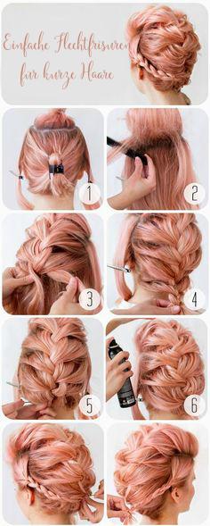 Einfache Flechtfrisuren Für Kurze Haare Mit Anleitung Apiotravvyinfo