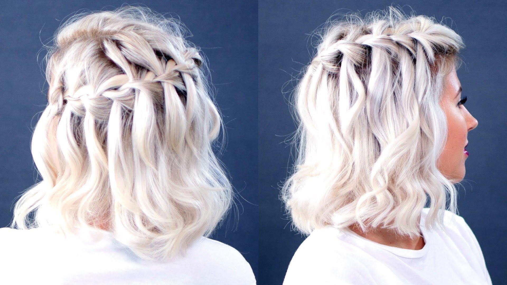 Wie Profis Ihre Haare flechten: Wasserfallzopf
