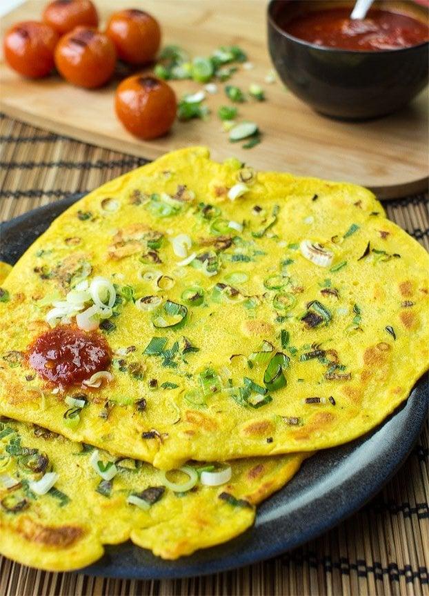 Kichererbsenmehl Rezepte: Omelette Eierkuchen Low Carb